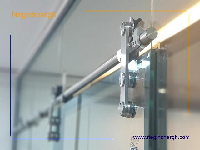 اتصالات ریلی پارتیشن شیشه ای اجرا شده در مشهد